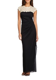 Alex Evenings Long Side Ruched Dress