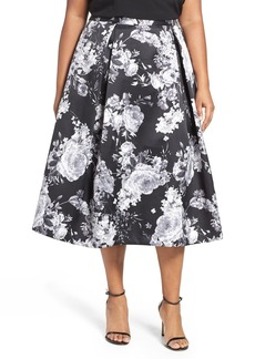 Alex Evenings Midi Skirt (Plus Size)