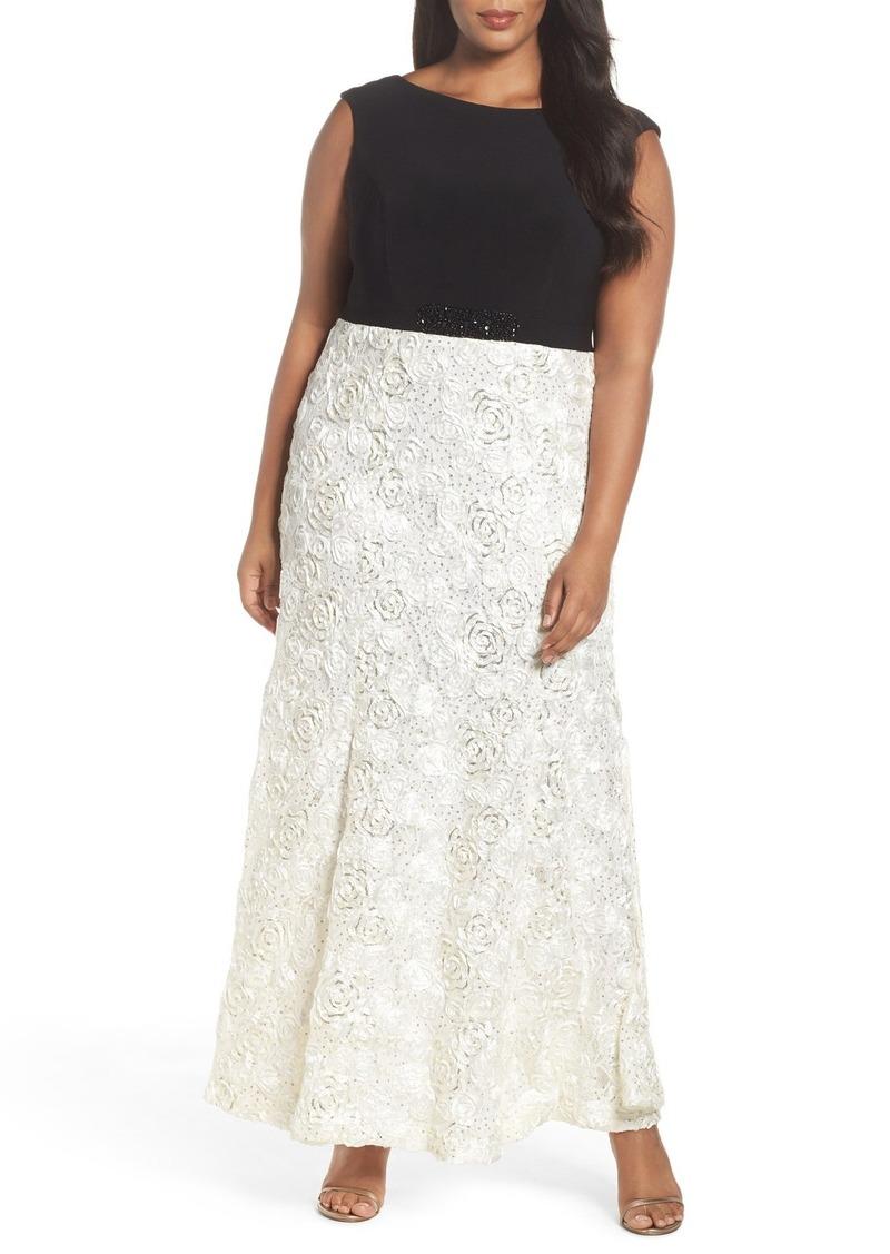 Alex Evenings Mock Two-Piece Gown (Plus Size)