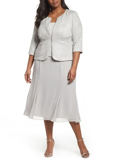 Alex Evenings Mock Two-Piece Jacket Dress (Plus Size)