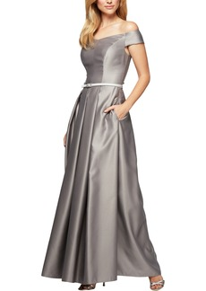 Alex Evenings Off the Shoulder Ballgown