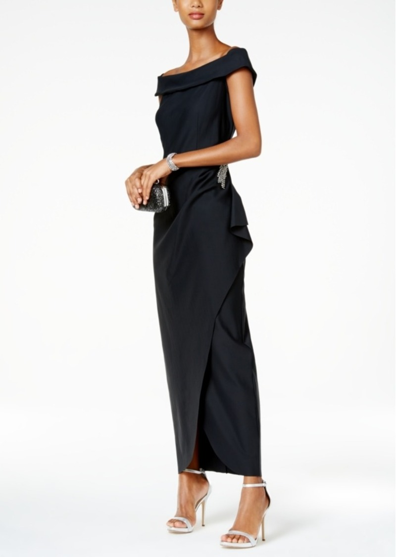 Alex Evenings Alex Evenings Off-The-Shoulder Embellished Gown Now ...