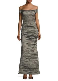 Alex Evenings Off-The-Shoulder Long Dress
