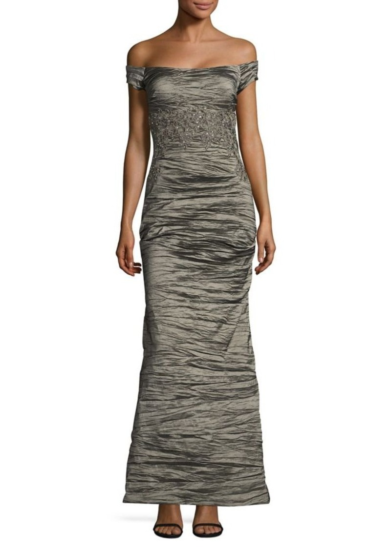 Alex Evenings Alex Evenings Ruched Off-The-Shoulder Gown Now $103.60 ...