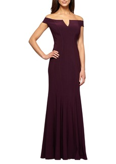 Alex Evenings Off the Shoulder Mermaid Gown