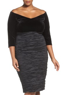 Alex Evenings Off the Shoulder Sheath Dress (Plus Size)