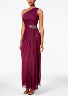 Alex Evenings One-Shoulder Beaded Gown