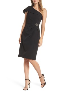 Alex Evenings One-Shoulder Sheath Dress