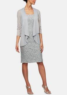 Alex Evenings Petite Allover-Sequin Dress & Jacket