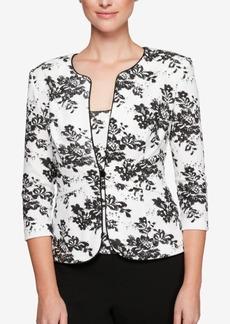 Alex Evenings Petite Embellished Floral Jacket & Top