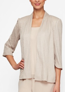 Alex Evenings Petite Ribbed Jacket & Tank Top Set