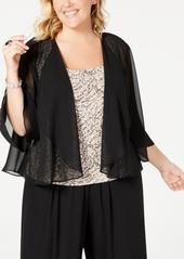 Alex Evenings Plus Size Chiffon Bolero Jacket