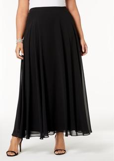 Alex Evenings Plus Size Chiffon Maxi Skirt