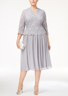 Alex Evenings Plus Size Embellished A-Line Dress