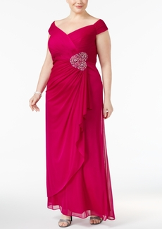 Alex Evenings Plus Size Embellished A-Line Gown