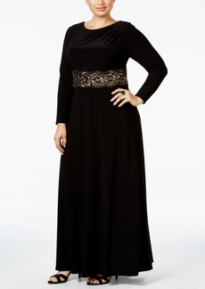 Alex Evenings Plus Size Embellished Cowl-Neck Gown