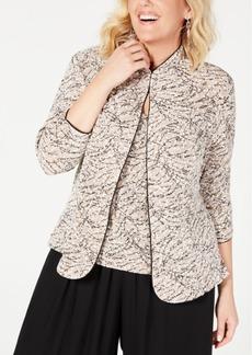 8a3e0f68c8b Alex Evenings Alex Evenings Plus Size Sequined Jacket   Shell ...