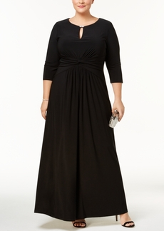Alex Evenings Plus Size Ruched Gown