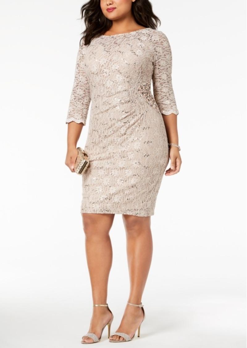6a9300aa84c2e Alex Evenings Alex Evenings Plus Size Sequined Lace Dress | Dresses