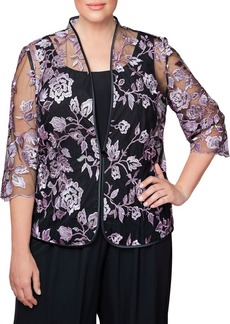 Alex Evenings Plus Two-Piece Camisole and Jacket