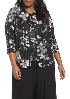 Alex Evenings Print Twinset (Plus Size)