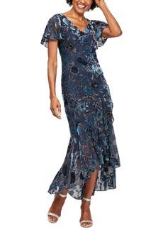 Alex Evenings Printed Burnout-Velvet Dress