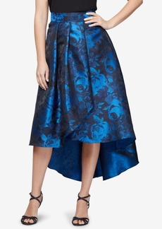 Alex Evenings Printed High-Low Skirt