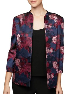 Alex Evenings Printed Jacket and Solid Tank Twinset