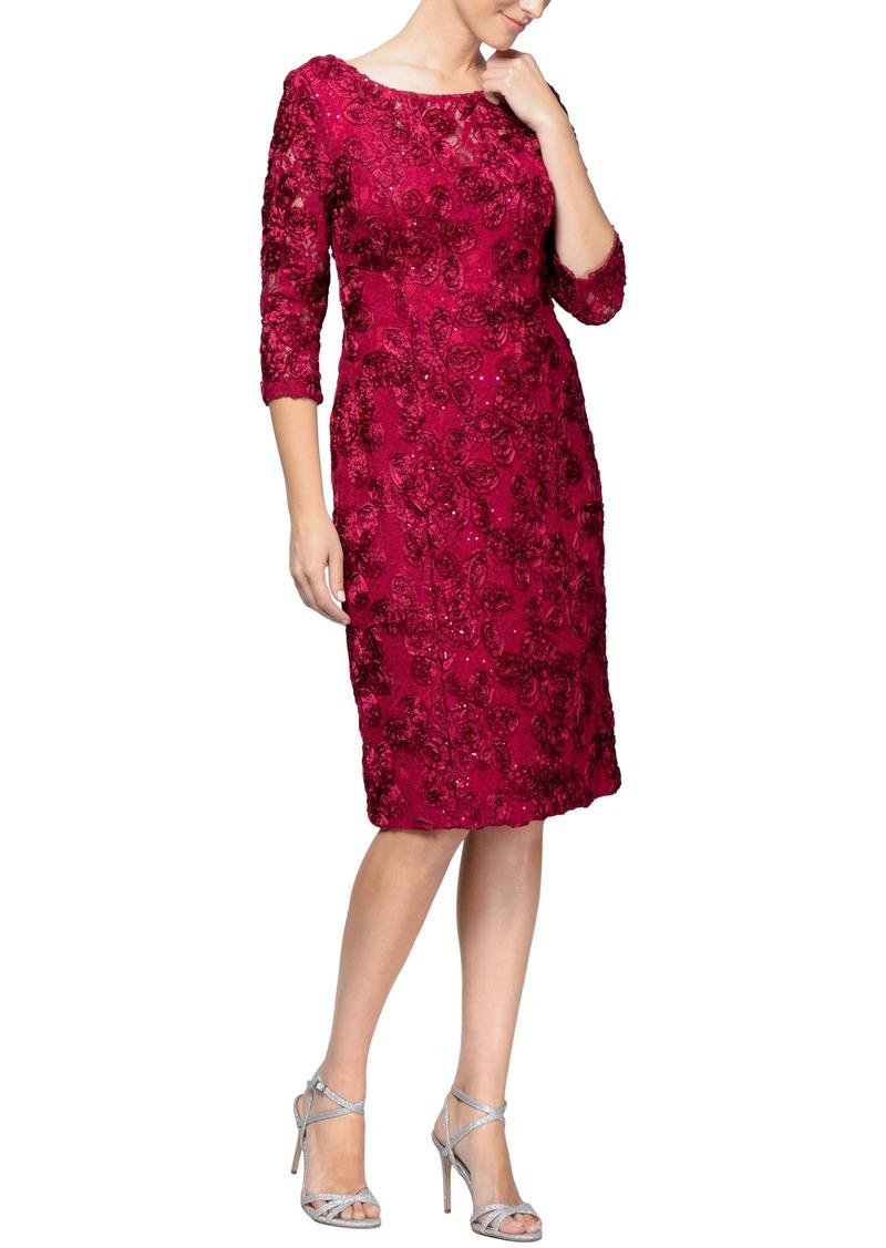 Alex Evenings Rosette Shift Dress