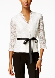 Alex Evenings Scalloped Lace Blouse