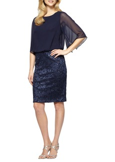 Alex Evenings Sequin Blouson Dress