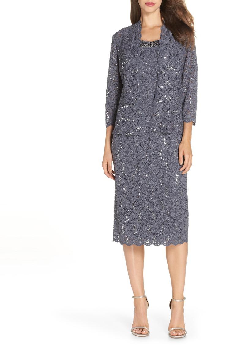 478088ce Alex Evenings Alex Evenings Sequin Lace Dress & Jacket   Dresses