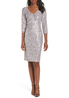 Alex Evenings Sequin Lace Sheath Dress