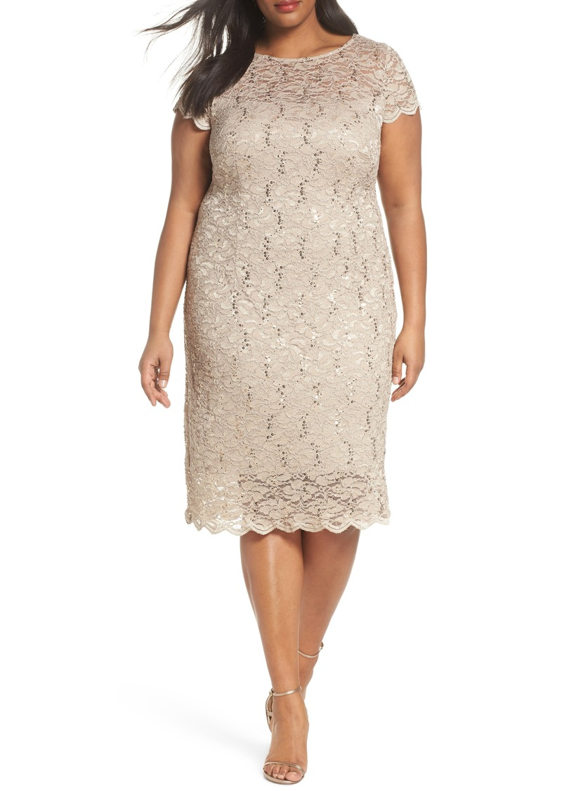 cd65a4b5e2c Alex Evenings Alex Evenings Sequin Lace Sheath Dress (Plus Size ...