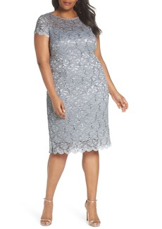 Alex Evenings Sequin Lace Sheath Dress (Plus Size)