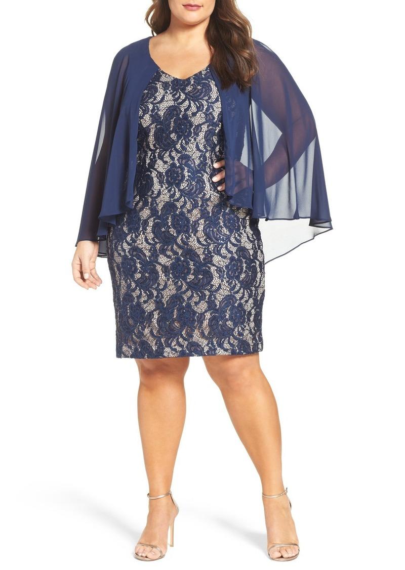 98ec8b2ccbd Alex Evenings Alex Evenings Sequin Lace Sheath Dress (Plus Size ...