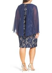 Alex Evenings Sequin Lace Sheath Dress (Plus Size)