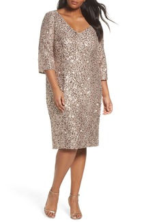 Alex Evenings Sequin Shift Dress (Plus Size)