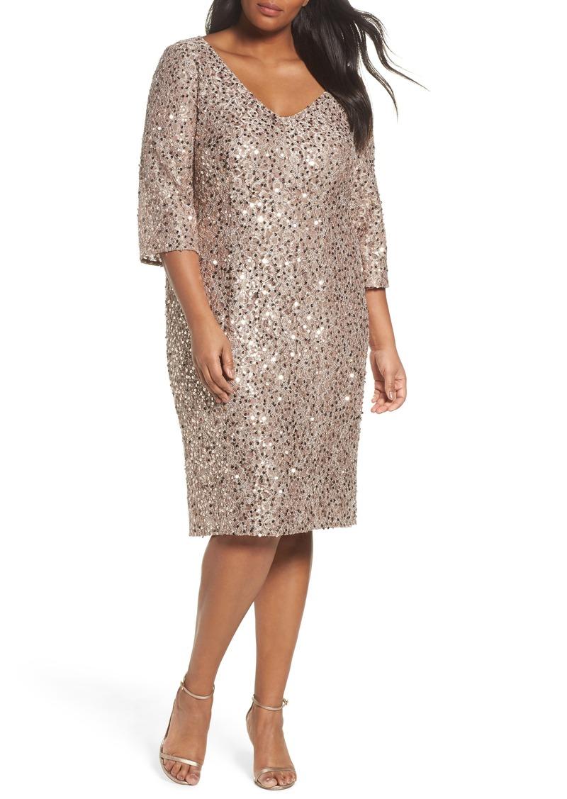 Alex Evenings Alex Evenings Sequin Shift Dress (Plus Size) Now $125.40