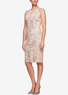 Alex Evenings Sequined Embroidered Dress