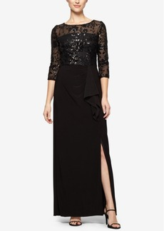 Alex Evenings Sequined Illusion Gown