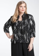 Alex Evenings Sequined Twinset (Plus)