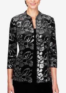 Alex Evenings Sequined Velvet Jacket & Top