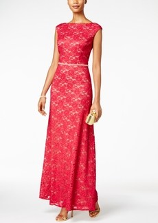 Alex Evenings Shimmer Lace Gown