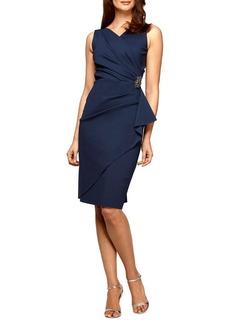 Alex Evenings Side Ruched Short Sheath Dress