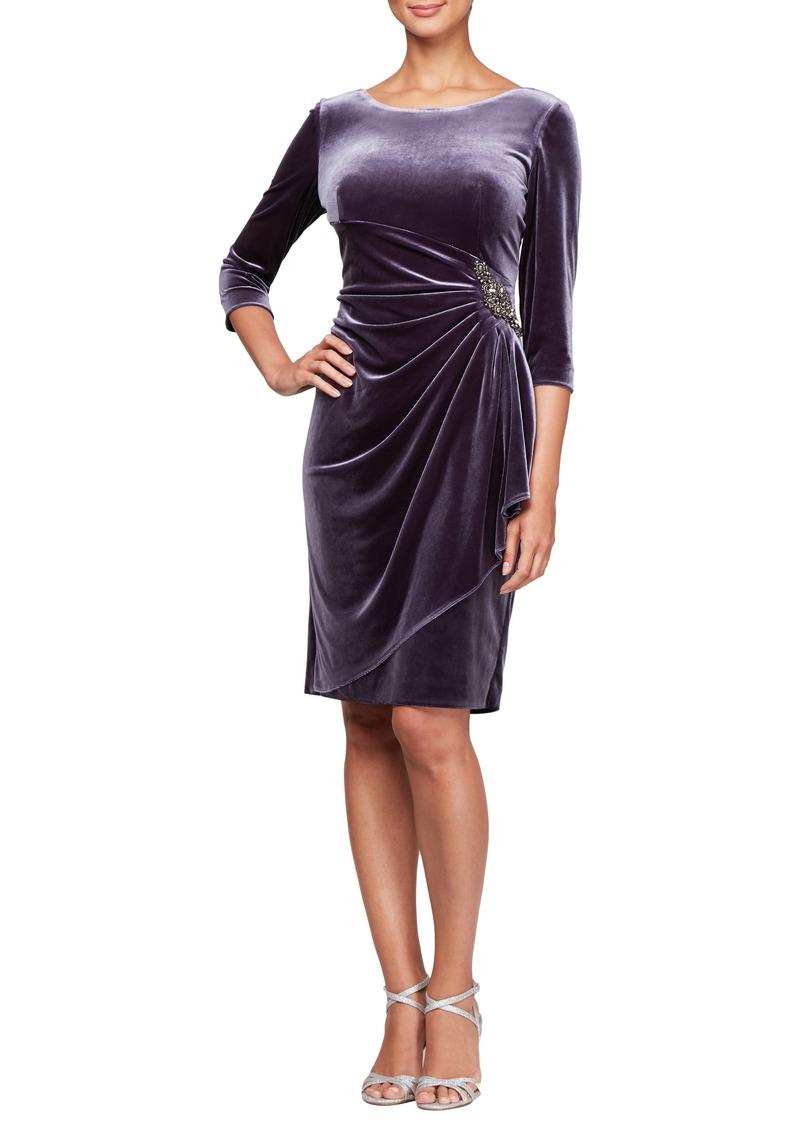 432234f6c4e SALE! Alex Evenings Alex Evenings Side Ruched Velvet Cocktail Dress ...