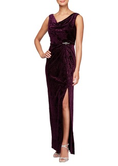 Alex Evenings Sleeveless Velvet Gown