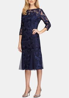 Alex Evenings Soutache-Detail Midi Dress