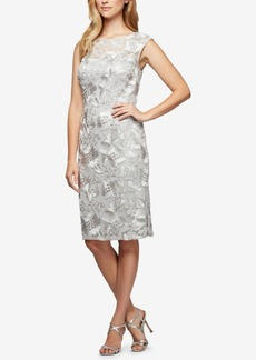 Alex Evenings Soutache Embroidered Dress