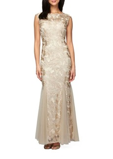 Alex Evenings Soutache Embroidered Gown